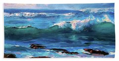 Coastal Ocean Sunset At Turtle Bay, Oahu Hawaii Beach Seascape Hand Towel