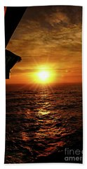 Bath Towel featuring the photograph Ocean Sunset by Sue Melvin