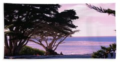 Ocean Views From Carmel Beach  Hand Towel