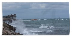 Ocean Waves At Minot Beach Bath Towel