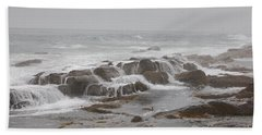 Ocean Waves Over Rocks Bath Towel