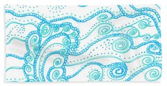 Ocean Waves Bath Towel
