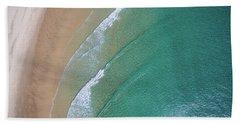 Ocean Waves Upon The Beach Bath Towel