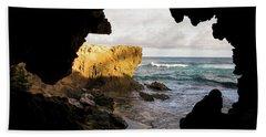 Oceanfront Cave Hand Towel