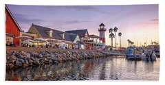 Oceanside Harbor Hand Towel by Ann Patterson