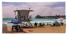 Oceanside Lifeguard Hand Towel