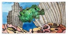 Ocellated Frogfish Bath Towel