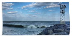 Ocmd Inlet Jetty  Bath Towel