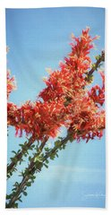 Ocotillo In Bloom Bath Towel
