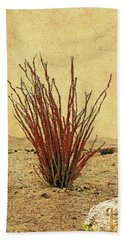 Ocotillo - The Desert Coral Bath Towel
