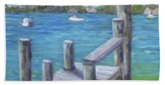 Ocracoke Harbor Bath Towel
