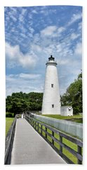 Ocracoke Lighthouse - Outer Banks Hand Towel
