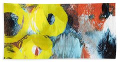October- Abstract Art By Linda Woods Hand Towel