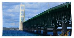 October At The Straits Of Mackinac Hand Towel
