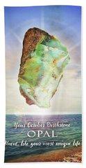 October Birthstone Opal Bath Towel by Evie Cook