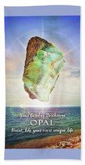 October Birthstone Opal Hand Towel
