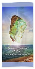 October Birthstone Opal Bath Towel