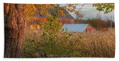 Hand Towel featuring the photograph October Morning 2016 Square by Bill Wakeley