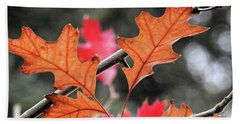 Hand Towel featuring the photograph October by Peggy Hughes