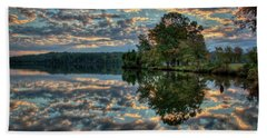 Bath Towel featuring the photograph October Skies by Douglas Stucky