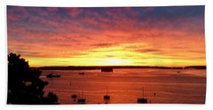 October Sunrise On Casco Bay 2016 Hand Towel