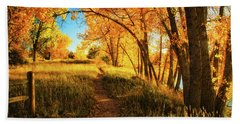 Hand Towel featuring the photograph October's Light by John De Bord