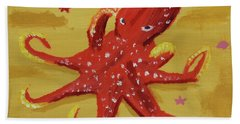 Octopus Hand Towel by Anthony LaRocca