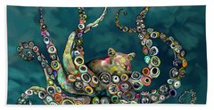 Octopus Colorful Hand Towel by Tim Gilliland