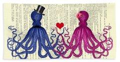 Octopus Couple Hand Towel