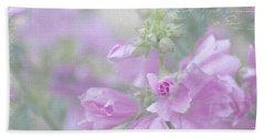 Odd Stemmed Wild Flower  Bath Towel by Sandra Foster
