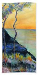Hand Towel featuring the pastel Ode To Monet by Jodie Marie Anne Richardson Traugott          aka jm-ART