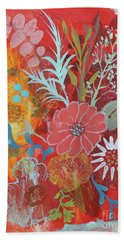 Hand Towel featuring the painting Ode To Spring by Robin Maria Pedrero