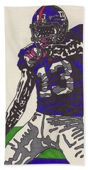 Odell Beckham Jr  Bath Towel by Jeremiah Colley