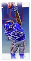 Odell Beckham Jr New York Giants Oil Art 2 Hand Towel