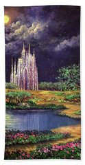 Of Glass Castles And Moonlight Bath Towel