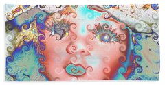 Bath Towel featuring the digital art Of Many Colors by Holly Ethan