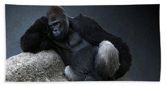 Off Duty Gorilla Bath Towel