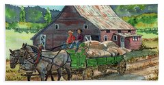 Off To Market Hand Towel