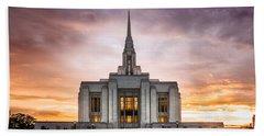 Ogden Lds Temple Sunset Hand Towel