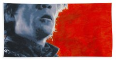 Hand Towel featuring the painting Tyrion Lannister by Luis Ludzska