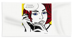 Ohhh...alright - Roy Lichtenstein Bath Towel