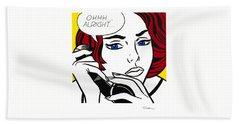 Ohhh...alright Hand Towel by Roy Lichtenstein