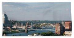 Ohio River's Suspension Bridge Bath Towel