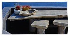 Oia Still Life On The Greek Island Of Thira Bath Towel