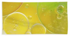 Oil And Water Bubbles  Hand Towel