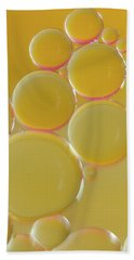 Oil Bubbles On Water Abstract Hand Towel