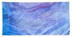 Oil Spill On Water Abstract Bath Towel
