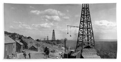 Oil Well, Wyoming, C1910 Bath Towel