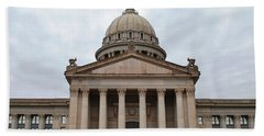Oklahoma State Capitol - Front View Hand Towel by Matt Harang
