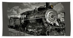 Old 104 Steam Engine Locomotive Hand Towel by Thom Zehrfeld